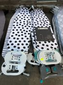 1 LOT TO CONTAIN APPROX 8 X MIXED IRONING BOARDS PUBLIC VIEWING AVAILABLE & HIGHLY RECOMMENDED -