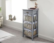 1 BOXED PADSTOW 1+3 DRAWER CHEST IN GREY (PUBLIC VIEWING AVAILABLE)