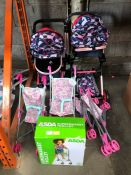 1 LOT TO CONTAIN AN ASSORTMENT OF KIDS DOLL PRAMS PUBLIC VIEWING AVAILABLE & HIGHLY RECOMMENDED -