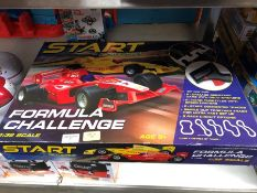 1 LOT TO CONTAIN SCALEXTRIC START FORMULA CHALLENGE PUBLIC VIEWING AVAILABLE & HIGHLY