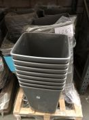1 LOT TO CONTAIN 6 STACKS OF 50L PLASTIC KITCHEN BINS / RRP £474.50 (SOLD AS SEEN)