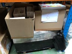 1 LOT TO CONTAIN A MIXED ASSORTMENT OF PRINTING PRODUCTS AND WATER / INCLUDING BOTTLES OF