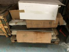 1 LOT TO CONTAIN AN ASSORTMENT OF MARBLE FIREPLACE HEARTHS / COLOURS, SIZES AND CONDITIONS MAY