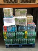 1 LOT TO CONTAIN AN ASSORTMENT OF DRINKS / BRANDS INCLUDE GLACEAU SMART WATER, HIGHLAND SPRING