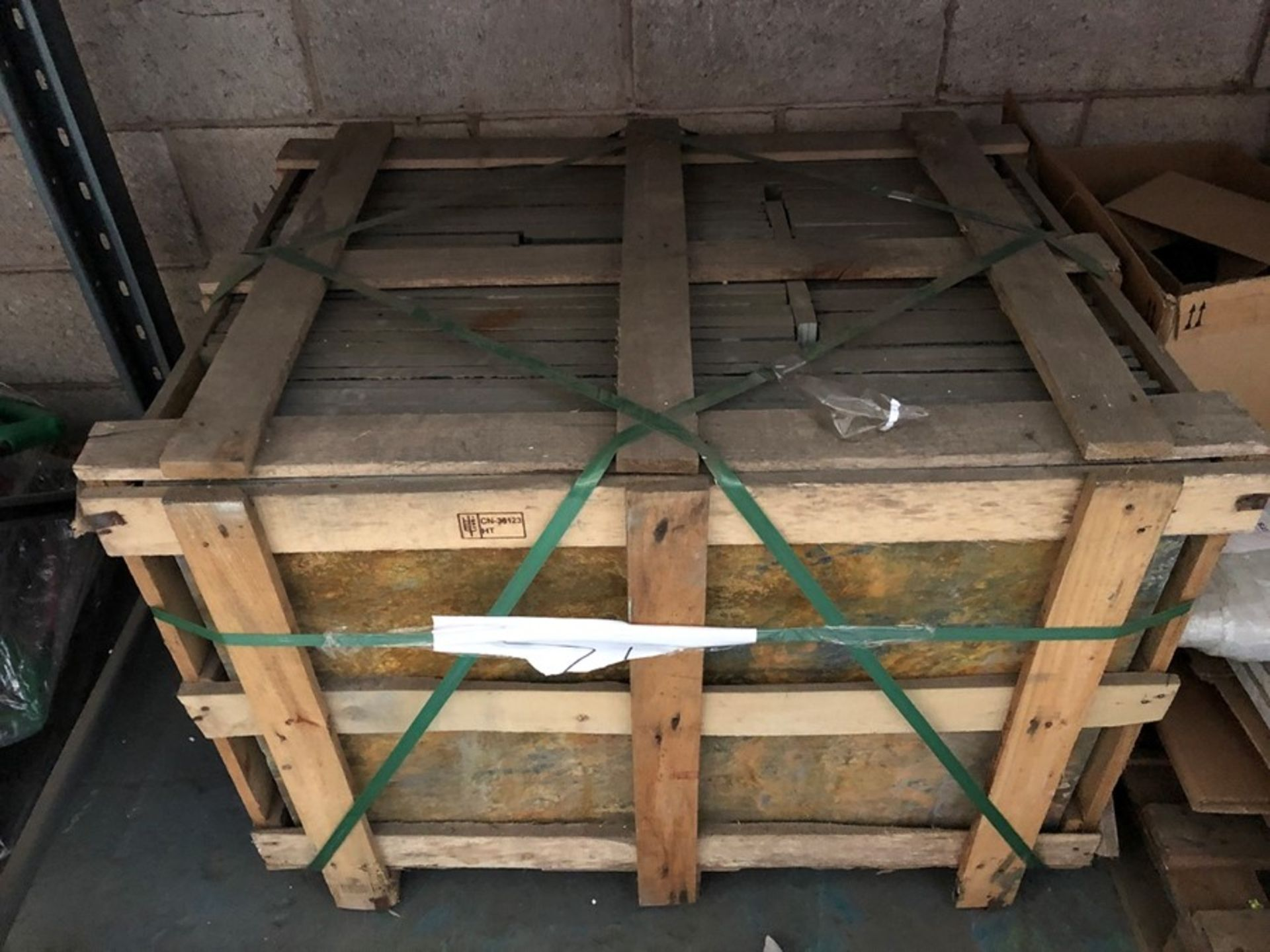 Lot 16 - 1 LOT TO CONTAIN A PALLET OF RUSTED SLATE PAVING SLABS (SOLD AS SEEN)