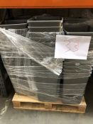 1 LOT TO CONTAIN 9 STACKS OF 50L PLASTIC KITCHEN BINS / RRP £576.50 (SOLD AS SEEN)