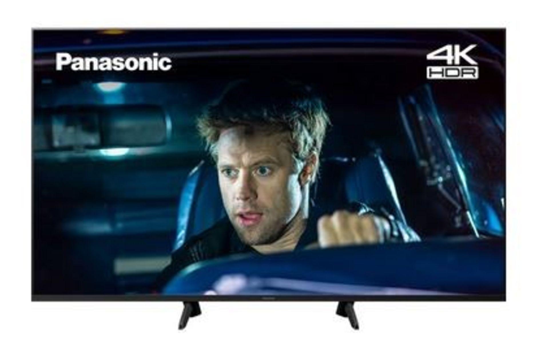 "Lot 1Q - 1 UNTESTED PANASONIC 65"" SMART 4K ULTRA HD LED TV - TX-65FX560B / SCREEN DAMAGED, SPARES AND REPAIRS"