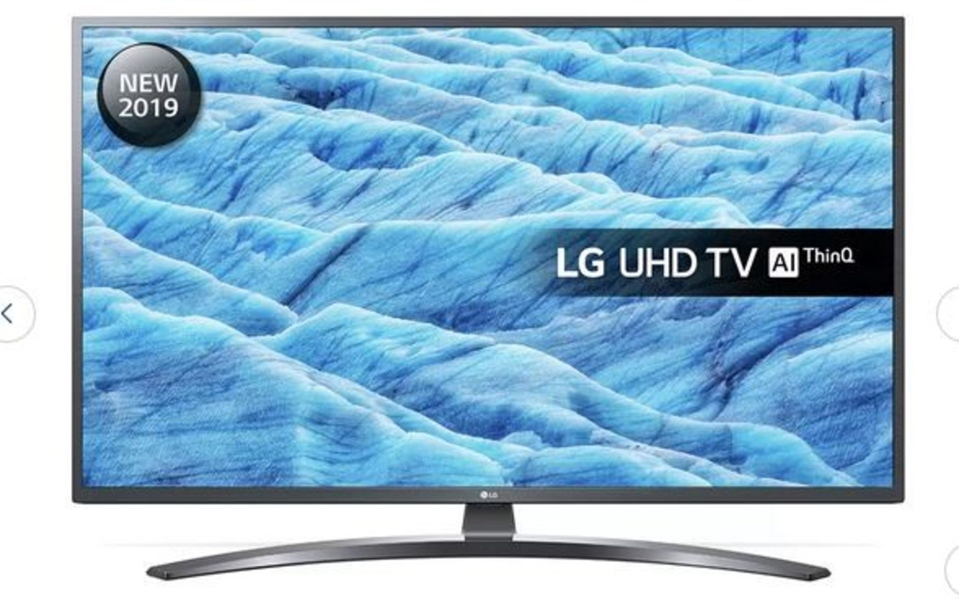"Lot 1I - 1 BOXED AND UNTESTED 49"" LG ULTRA HD 4K TV - 49UM7400PLB / SCREEN DAMAGED, SPARES AND REPAIRS /"