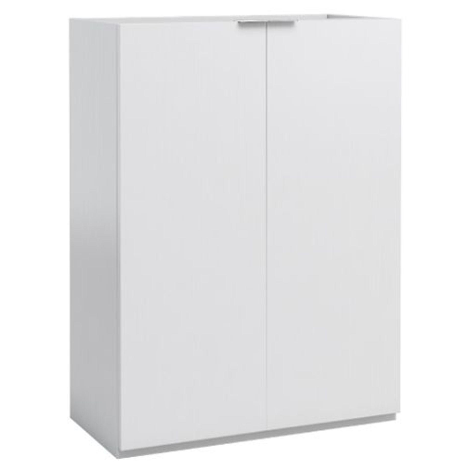 Lot 10 - MYPLAN' 600MM BASIN UNIT IN ARTIC WHITE. W600 X D450 X H715MM RRP £375