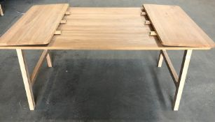 JOHN LEWIS SOLID OAK EXTENDING DINING TABLE 160 - 240CM