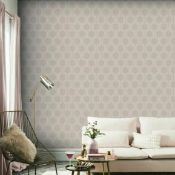 1 LOT TO CONTAIN 9 AS NEW ROLLS OF ARTHOUSE LUXE HEXAGON DUSKY ROSE WALLPAPER - 910205 / RRP £116.