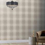 1 LOT TO CONTAIN 2 AS NEW ROLLS OF ARTHOUSE COUNTRY TARTAN TAUPE - 294903 / RRP £39.98