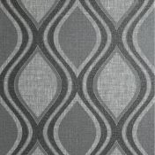 1 LOT TO CONTAIN 2 AS NEW ROLLS OF ARTHOUSE CURVE CHARCOAL WALLPAPER - 295100 / RRP £39.98