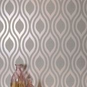 1 LOT TO CONTAIN 7 AS NEW ROLLS OF ARTHOUSE LUXE OGEE DUSKY ROSE WALLPAPER - 910201 / RRP £90.93