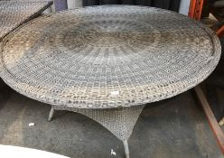 JOHN LEWIS RATTAN LARGE ROUND OUTDOOR DINING TABLE GREY