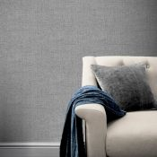 1 LOT TO CONTAIN 5 AS NEW ROLLS OF ARTHOUSE COUNTRY PLAIN CHARCOAL WALLPAPER - 295000 / RRP £99.95