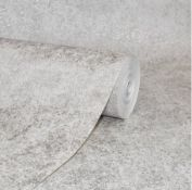 1 LOT TO CONTAIN 6 AS NEW ROLLS OF ARTHOUSE CONCRETE TAUPE WALLPAPER - 295301 / RRP £119.94