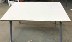 JOHN LEWIS LUNA DINING TABLE IN GREY & WHITE