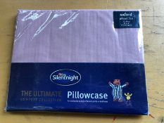 1 PAIR OF SILENT NIGHT PLAIN DYED PILLOWCASES - BLUSH PINK