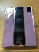 1 SLEEP AND DREAM LUXURY PERCALE PLAIN DYED FITTED SHEET - DUSKY PINK / SIZE: 36 X 75""