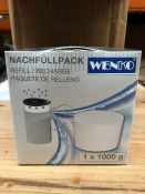 1 LOT TO CONTAIN APPROX 39 PACKS OF WENKO REFILL CALCIUM CHLORIDE PACKS - WEIGHT 1000G PER PACK (