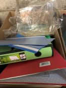 1 LOT TO CONTAIN AN ASSORTMENT OF BINDERS AND OTHER OFFICE PRODUCTS (SOLD AS SEEN)
