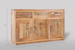 1 BOXED BEN HOMES SOLID WOOD BOSS MANGO WOOD LARGE SIDEBOARD BML-LAR-SID / RRP £490.00 / CONDITION