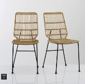 LA REDOUTE MALU KUBU WICKER CHAIRS (SET OF 2)