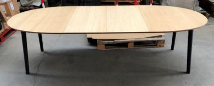 1 JOHN LEWIS EXTENDING DINING TABLE (SOLD AS SEEN)