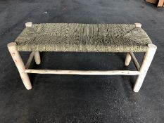 1 LA REDOUTE GHADA RAW WILLOW WOOD BENCH (SOLD AS SEEN)