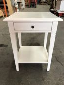 1 LA REDOUTE ANDANTE BESIDE TABLE IN WHITE (SOLD AS SEEN)