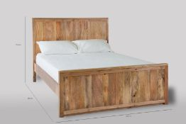 1 BOXED BEN HOMES SOLID WOOD BOSS MANGO WOOD DOUBLE 4FT6 BED BML-BDO-SRS+HFT / RRP £500.00 /
