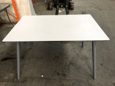 1 JOHN LEWIS DINING TABLE IN WHITE (SOLD AS SEEN)