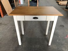 1 LA REDOUTE ROSIDE PINE DINING TABLE (2 SEATS) / MINOR SCUFFS, CHIP ON THE BACK (SOLD AS SEEN)