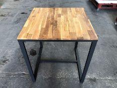 1 LA REDOUTE HIBA SQUARE BISTRO TABLE IN METAL AND OAK