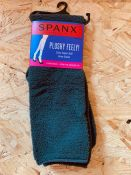 AS NEW 50 x PAIRS OF SPANX PLUSHY FEELY KNEE SOCKS IN CHARCOAL. EACH PACK RETAILS AT £18. COMBINED