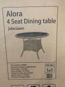 JOHN LEWIS ALORA 4-SEATER GARDEN DINING TABLE