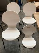 4 x HOUSE BY JOHN LEWIS CRESCENT DINING CHAIRS