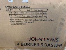 JOHN LEWIS 4 BURNER GAS BBQ