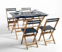 LA REDOUTE MYRTON 5-PIECE GARDEN FURNITURE SET IN ACACIA