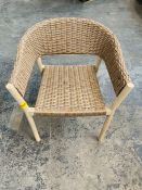 2 x JOHN LEWIS CROFT COLLECTION BURFORD GARDEN WOVEN OUTDOOR CHAIRS