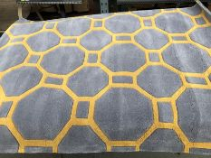 LA REDOUTE BERIC LATTICE GEOMETRIC PRINT RUG