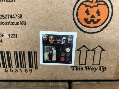 1 LOT TO CONTAIN 4 BOXES OF HALLOWEEN FX MONSTROUS KITS / 6 KITS PER BOX