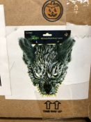 1 LOT TO CONTAIN 2 BOXES OF HALLOWEEN HALF WEREWOLF MASKS / 5 MASKS PER BOX