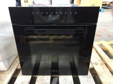 1 MIELE H7464BP VITROLINE OBSIDIAN BLACK SINGLE SELF CLEANING BUILT IN OVEN / RRP £2299.99 /