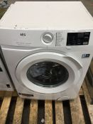 1 AEG 6000 SERIES LAVAMAT WASHING MACHINE / RRP £500.00 / CONDITION REPORT: DAMAGE TO TOUCHSCREEN,