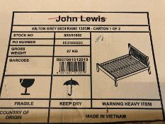 JOHN LEWIS WILTON DOUBLE BED FRAME
