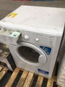 1 INDESIT IWB71251 WASHING MACHINE / RRP £230.00 / CONDITION REPORT: HEAVILY USED, COSMETIC DAMAGE