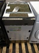 1 BEKO DW 450 SLIMLINE INTERGRATED DISHWASHER / RRP £249.99 / CONDITION REPORT: HEAVILY USED, SOME