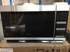 1 SHARP R861SLIM MICROWAVE OVEN / RRP £149.99 / CONDITION REPORT: IN ORIGINAL PACKAGING, VERY VERY